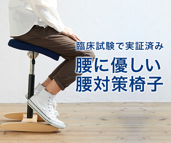 ラクに姿勢がよくなる椅子バランスチェア【サカモトハウス】
