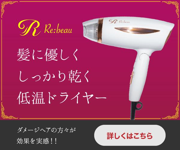 低温+超高濃度イオンドライヤー【Re:beau】商品モニター