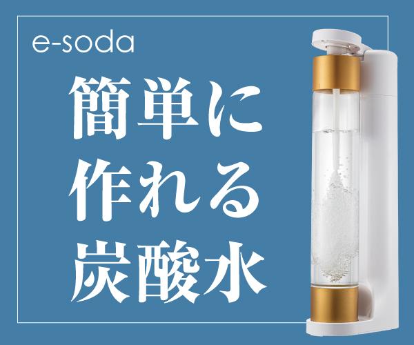 自宅で作る炭酸水「e-soda」